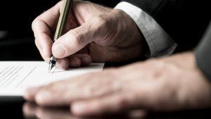 podpis pod testementem